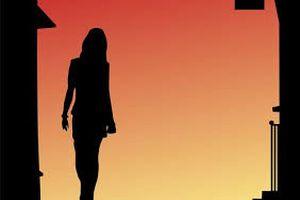 女性の影イラスト