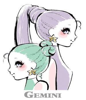 双子座イラスト